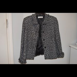Tahari Black And White Jacket